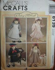 McCall' s Sewing Pattern no. 8139 Crafts dolls Free Post Australia