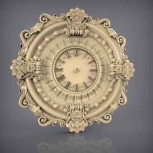 (862) STL Model Clock for CNC Router 3D Printer  Artcam Aspire Bas Relief