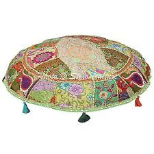 Indian Handmade Floor Cushion Cover Decorative Cotton Pouf Ottoman Cover
