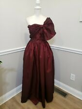 New listing Alyce Designs Vintage 80s Burgundi Taffetta Pageant Party Prom Dress size 8