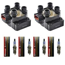 Herko B014 Ignition Coils (2) + (4) Motorcraft SP432 Spark Plugs For Ford Mazda
