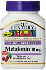 21st Century Melatonin Quick Dissolve Tablets Cherry 10mg 120Tabs (PACK OF 2)