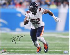 Chicago Bears Khalil Mack Signed 11x14 Photo Rush Star LB - Beckett BAS COA