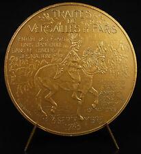 Médaille traités de Versailles & Paris 1783 USA Nation Democracy Goldstein medal