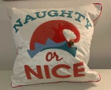 Naughty Or Nice Christmas Pillow From Santa's Workshop