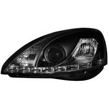 2 x Scheinwerfer Opel Corsa C 01-06 LED Tagfahrlicht Optik black schwarz 1015809