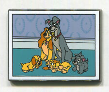 LADY & THE TRAMP with Puppies - 2017 Disney Films Mystery Limited Disney Pin