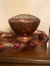 New listing Vintage Copper Flower Frog Bowl Made In England