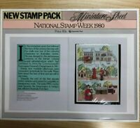 SP36) 1980 Australia Post Poster New Stamp Pack National Stamp Week Minisheet