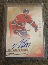 15/16 UD Sp Authentic Limited Gold Auto /99 #24 Alex Galchenyuk Cyotes