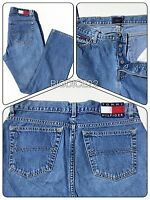 """Vtg TOMMY HILFIGER JEANS 90's Button Fly Stonewash Big Patch Mom Juniors 7 X 30"""""""