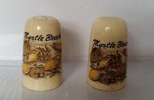 Vintage Myrtle Beach Sea Life Salt and Pepper Shaker Set