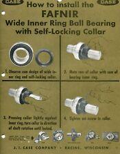 1960's Print Ad of JI Case FAFNIR Tractor Ball Bearing how to install