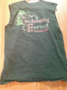 Sturgis Motorcycle Rally Enchanted Forest T Shirt Green Dragon Mens Size Large