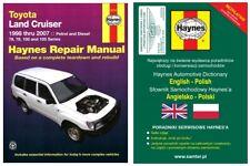 Toyota Land Cruiser 1998-2007 diesel + benzyna 78 79 100 105 instrukcja Haynes