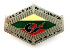 BULGARIAN CONFEDERATION OF KICK-BOXING AND MUAY THAI SPORT PIN BADGE