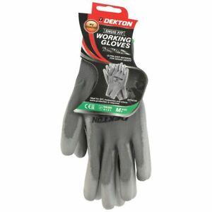 Dekton Snug Fit Anti Slip PU Coated Working Gloves 8/Medium Workshop DIY CE NEW