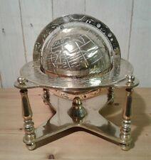 RARE Grandi Ottone Antico Terra Globo con marcature Astrologia e Planet