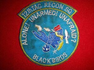Korea War (1950-53) US Air Force 12th Tactical Recon Squadron BLACK BIRDS Patch