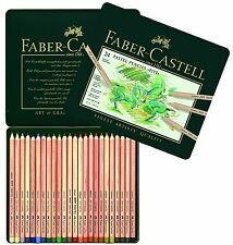 Faber-Castel FC112124 PITT Pastel Pencils In A Metal Tin (24 Pack), Assorted