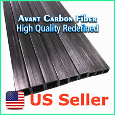4pcs 10 x 10 x 8.5 x 1000 mm Carbon Fiber Square Tube Pipe w/ 8.5mm Square Hole