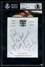 Chris Farley Signed Autographed Note BAS BECKETT JSA