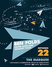 "BEN FOLDS ""PAPER AIRPLANE REQUEST TOUR"" 2017 PHOENIX CONCERT POSTER-Rock,Cabaret"
