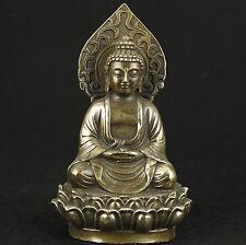 Chinese Old Bronze Collectable Handwork sakyamuni Buddha statue