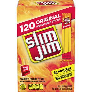 SLIM JIM ORIGINAL, BEEF SMOKED SNACK STICK, 6g PROTEIN (120 ct.)