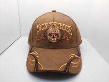Biker Iron Thunder Skull  Motorcycle Oilskin Ball Cap Hat New H15