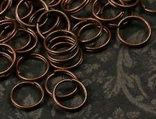 100x Spaltringe Spiralringe nikelfrei kupfer 8mm jr01k