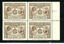 Guatelmala Stamps- Scott # C234/Ap53-6c-Mint/Nh-1959 -Air Postal-Plate of 4