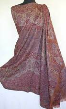 Large Jamavar Paisley Wool Shawl. Dramatic Elegance of Antique Pattern Pashmina