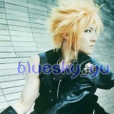 323 Final Fantasy VII Cloud Strife Short Blonde Anime Cosplay Hair Wig