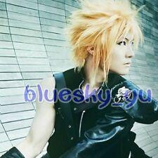 323 Final Fantasy VII Cloud Strife Short Blonde Anime Cosplay Hair Wig