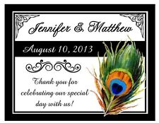 15 PEACOCK WEDDING FAVORS MAGNETS - PERSONALIZED