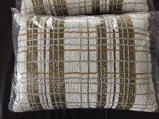 kim seybert pillow beaded white silver gold 12x16 new in bag
