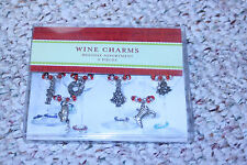 6 Christmas Pier 1 Wine Charms Christmas Wine Glass Charms Christmas Charms New
