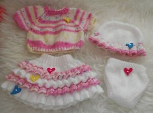 A5 PAPER KNITTING PATTERN #5 * For Baby Born/17 Inch Dolls
