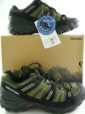Salomon Shoes Mens 9.5 Cherokee Contagrip Dark Khaki  Iguana Green  Nile Green