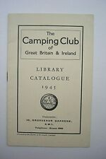 The Camping Club Of Great Britain & Ireland Library Catalogue 1945 VGC