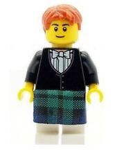 LEGO Wedding Scottish Groom Minifig in Green Kilt & Bowtie NEW Cake Topper