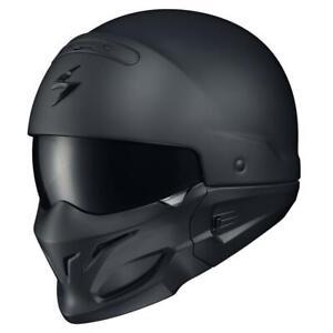 New Scorpion Exo Covert Motorcycle Helmet Unisex Adult Matte Black Convertible