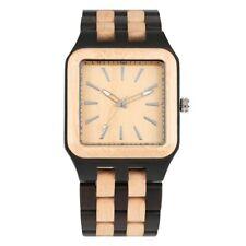 Luxury Natural Wood Watch Men's Quartz Wristwatch Date Display Full Wooden Band