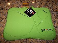 "YAK PAK NEOPRENE Netbook Mini Laptop Sleeve 10.2"" NEON GREEN ~ NWT"