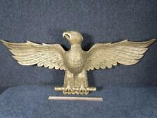 VINTAGE 1981 HAND CARVED WOOD AMERICAN EAGLE from SALEM ,MA