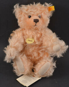 STEIFF CLASSIC TEDDY BEAR TAG 005015 MADE IN GERMANY- MOHAIR- WITH SQUEAKER NWT