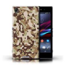 Fundas y carcasas brillantes de color principal marrón para teléfonos móviles y PDAs Sony