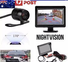 """4.3"""" TFT LCD Monitor Night Vision Car Rear View Kit HD IR 170° Reversing Camera"""