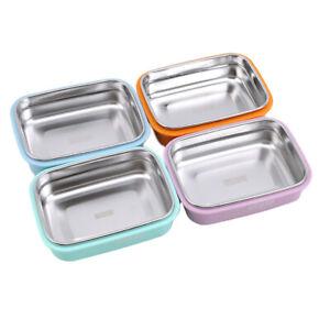 Lunch Box Children School Box Kitchen Food Container Stainless Steel Tableware C